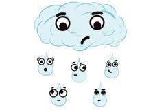 Emotionellt regn Royaltyfria Bilder