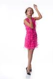 emotionellt rosa kvinnabarn för klänning Royaltyfri Bild