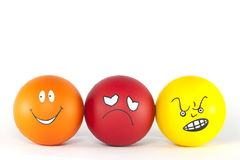 Emotions. From positive to negative attitude - gradation stock images