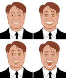 Emotions 2. Vector illustration Character showing diferent emotions Stock Illustration