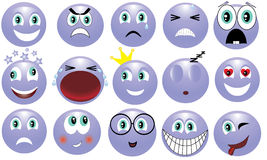 Emotions. Icon depicting the various emotions Royalty Free Stock Photography