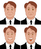Emotions 3. Vector illustration Character showing different emotions Vector Illustration