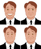 Emotions. Vector illustration Character showing diferent emotions Vector Illustration