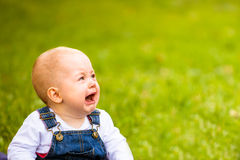 Emotions - baby crying Stock Images