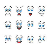 Emotions with blue eyes Royalty Free Stock Photos
