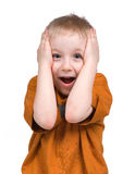 Emotions of the boy Royalty Free Stock Photo