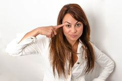 Emotions brunette Royalty Free Stock Photography