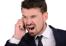 Emotions Business Man Stock Image