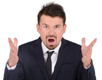 Emotions Business Man Royalty Free Stock Image