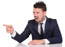 Emotions Business Man Royalty Free Stock Photo