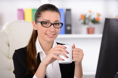 Emotions Business Woman Royalty Free Stock Photos