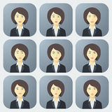Emotions of Business Woman Stock Images