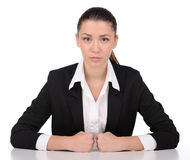 Emotions Business Woman Stock Photo
