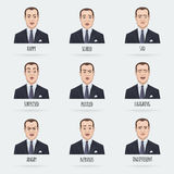 Emotions of a Businessman Stock Images