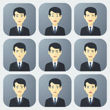 Emotions of Businessman Royalty Free Stock Image