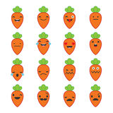 Emotions Carrots. Vector style smile icons Royalty Free Illustration