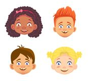 Emotions of a childs face Vector Illustration