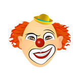 The emotions of a clown grin, sarcastic smile. Vector illustration of flat design Stock Images