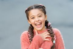 Emotions concept. Almost died laughing. Humor and react funny story. Childhood and happiness concept. Kid with cheerful. Laughing face. Sincere emotional child stock photos