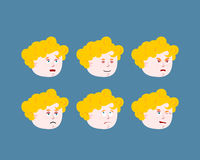 Emotions cupid baby. Set expressions avatar kids amur. Good and Royalty Free Stock Image