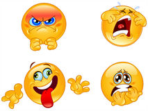 Emotions emoticons Stock Photos