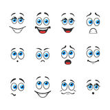 Emotions with eyes Stock Image