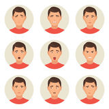 Emotions faces characters Stock Photography