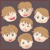 Emotions, faces of children. Royalty Free Stock Image