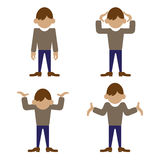Emotions. Feelings and emotions of man Stock Photography