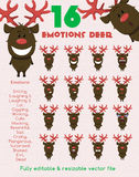 Emotions funny deer Stock Photos