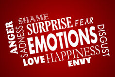 Emotions Happiness Sadess Anger Love Collage Stock Photos