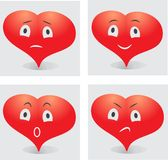 Emotions of the heart smiley Stock Images