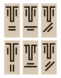Emotions icons. Rectangular avatars expressing human emotions Royalty Free Stock Photography