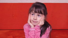 Emotions of a little girl stock video