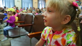 Emotions of a little girl, surprise stock footage