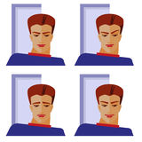 Emotions of man. Feelings and emotions of man Royalty Free Stock Image
