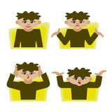 Emotions of man. Feelings and emotions of man Stock Photo