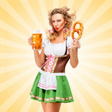 Emotions and Oktoberfest. Royalty Free Stock Photo