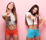 Free Emotions, People, Teens And Friendship Concept - Two Young Teen Royalty Free Stock Images - 90853579