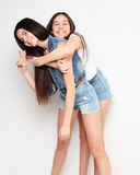 Emotions, people, teens and friendship concept - happy smiling p Stock Photo