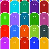 Emotions seamless pattern stock photos