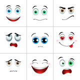 Emotions set, square Royalty Free Stock Photo