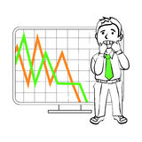 Emotions of a  SIM trader Stock Image