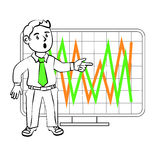 Emotions of a  SIM trader Stock Photo