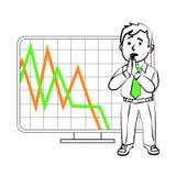 Emotions of a SIM trader vector illustration