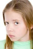 Emotions.  Skeptical young girl Royalty Free Stock Image