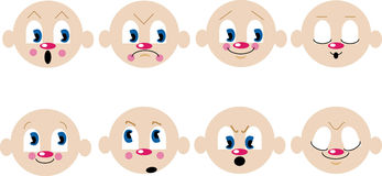 Emotions. Small images for websites Stock Image