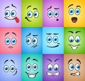 Emotions smiles on colored background Stock Image