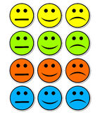 Emotions stickers Royalty Free Stock Image