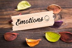 Emotions word Royalty Free Stock Photo